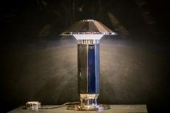 Puiforcat Desk Lamp, 1925 by Jean Puiforcat  #jeanpuiforcat #desklamp #lesatelierscourbet #lighting #sterlingsilver #onyx #LEDlight #jean #puiforcat #puiforcat #desk #lamp #sterling #silver