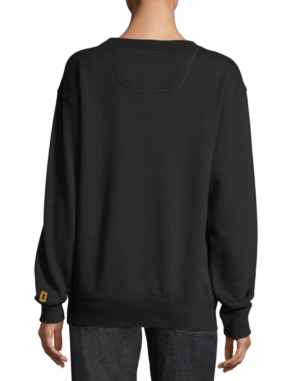 Marc Jacobs Beaded Logo Crewneck Sweatshirt Sweatshirts