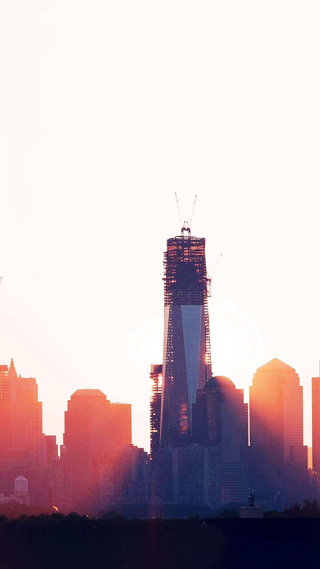 Construction Sky Line Sunset City Day IPhone 6 Plus Wallpaper