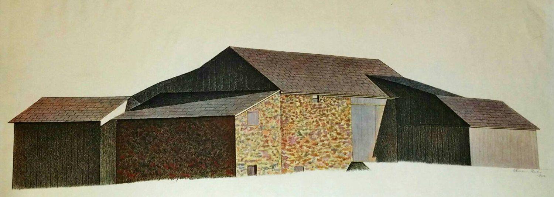 Charles Sheeler Bucks County Barn 1923 Original Lithograph ...