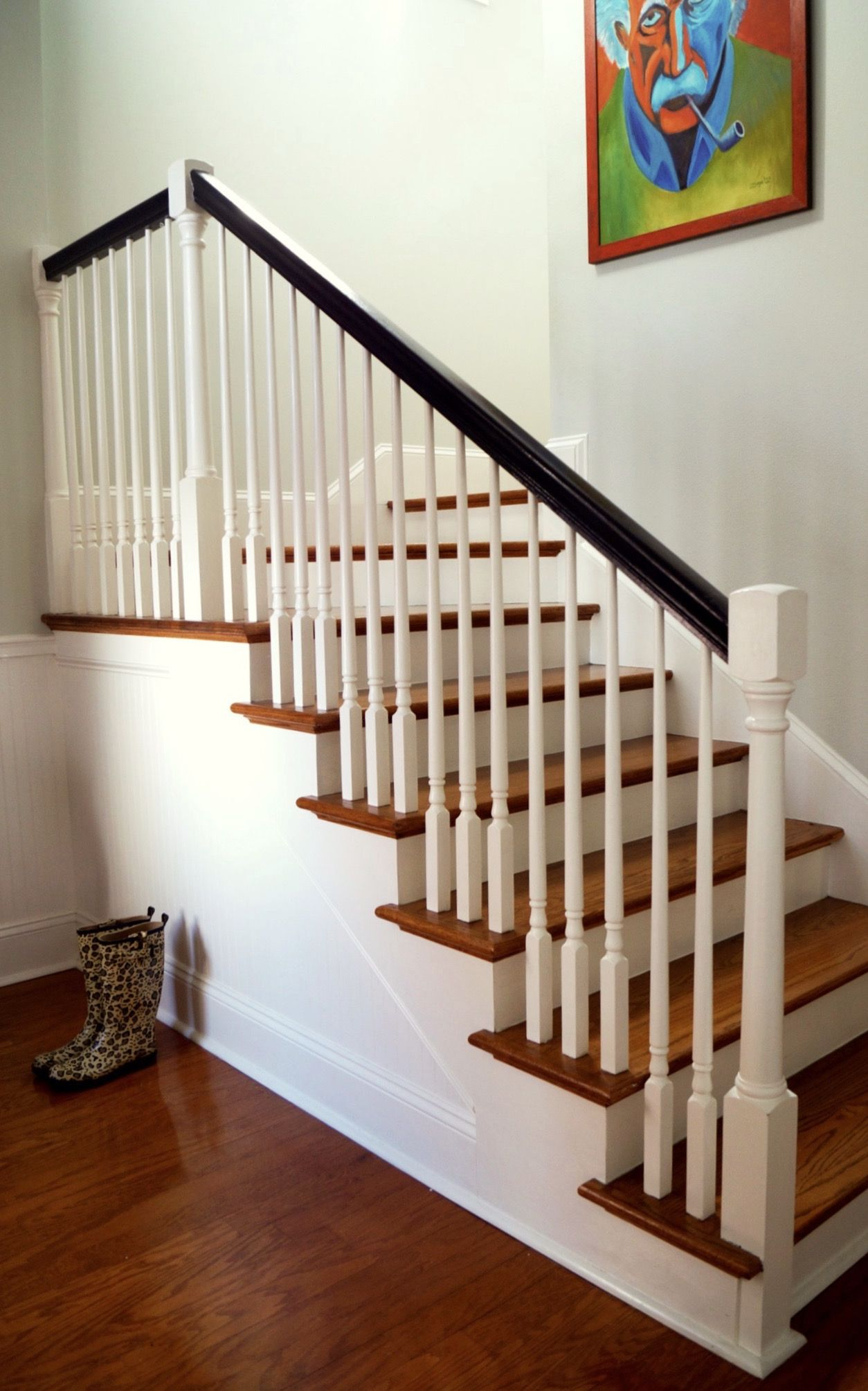 Marvelous Upgrading Builder Stairs  Remove Finial On Top Of Newell Post