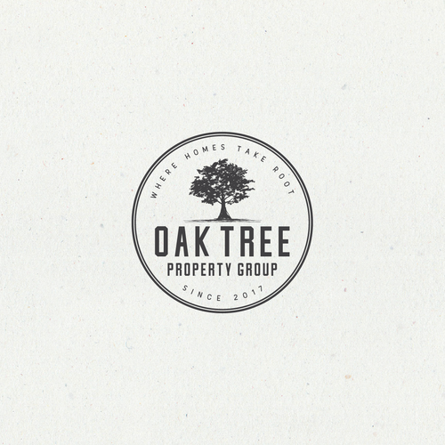 Oak Tree Property Group Clean Creative Logo For Property Management Company Logo Design Company Logo Design Oak Tree