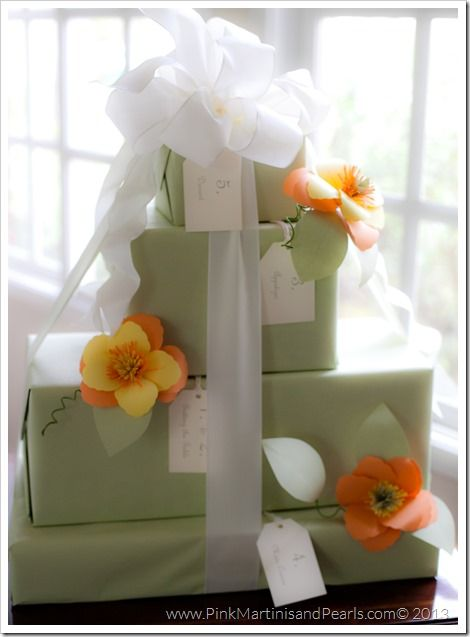 Gorgeous Presents They Almost Look Like A Wedding Cake Bridal Shower Gift Wrapping Ideas Bridal Shower Gifts Wedding Shower Gift