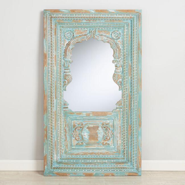 Wood Jharokha Mirror Unique Picture Frames Antique Mirror Frame