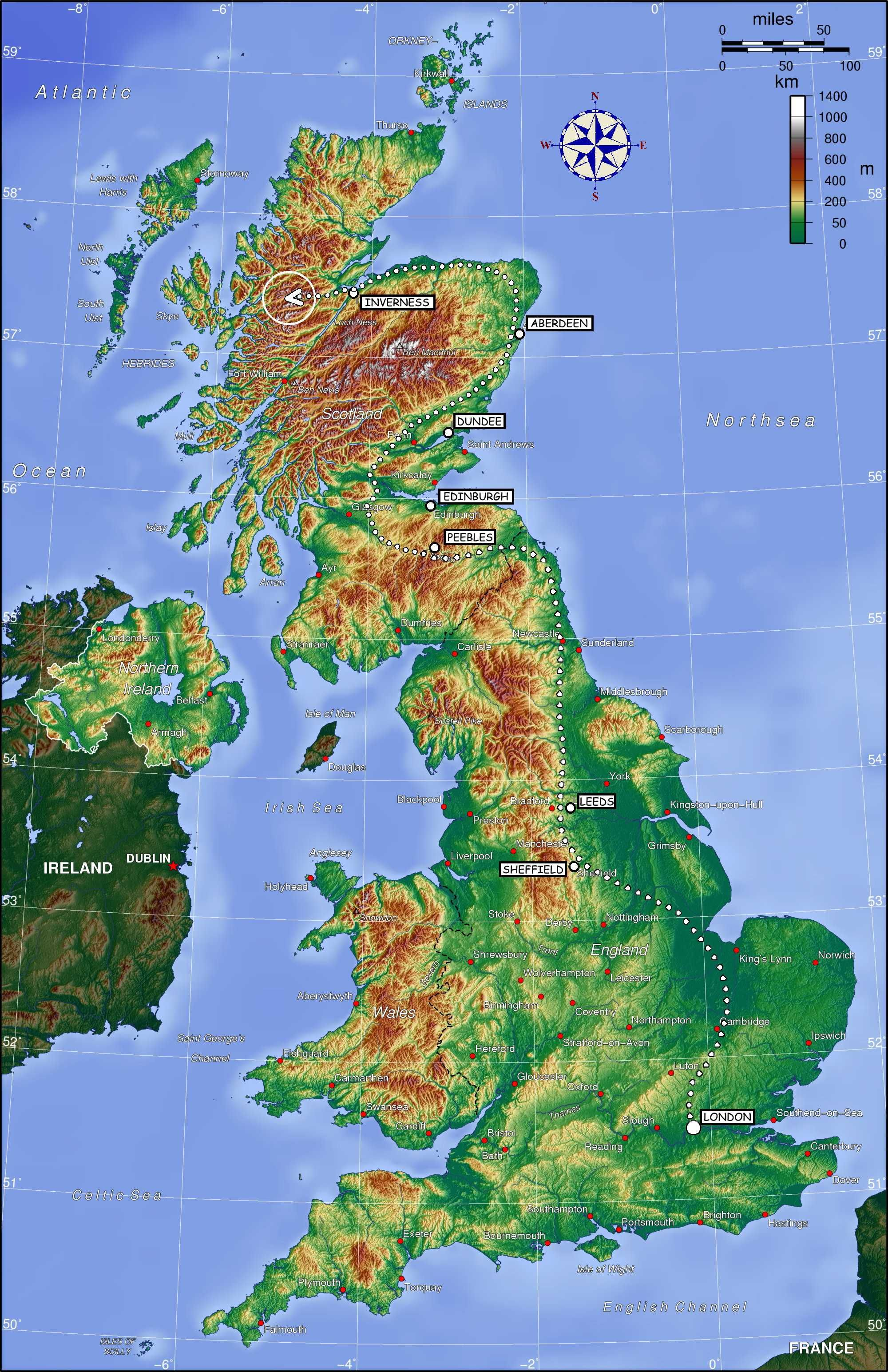 Map showing possible route of the hogwarts express through england map showing possible route of the hogwarts express through england and scotland gumiabroncs Image collections