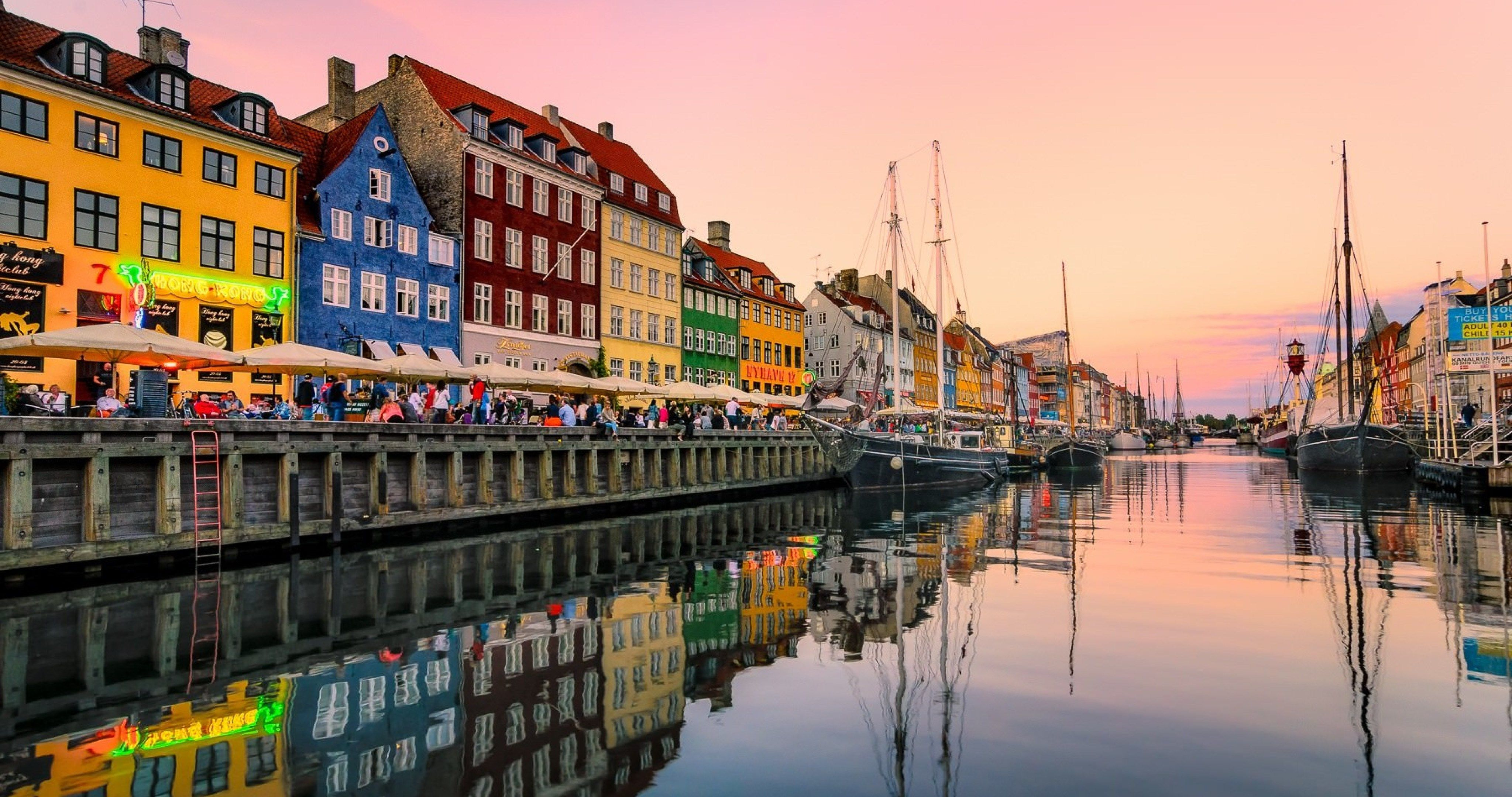 Nyhavn harbour in copenhagen wallpaper 4k ultra hd wallpaper illustrations and posters - Copenhagen wallpaper ...