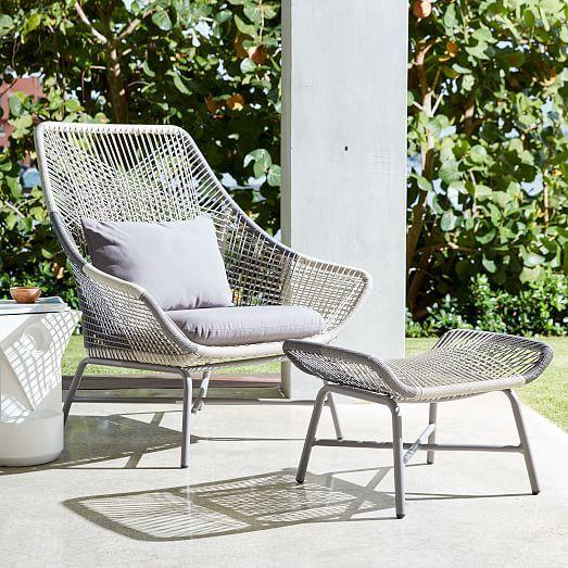 Huron Outdoor Lounge Chair & Cushion