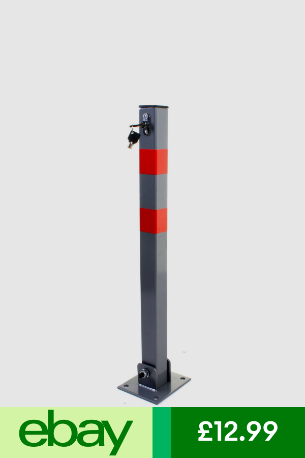 2 x Steel Removable Folding CAR Security Parking Driveway Vehicle Post Bollards