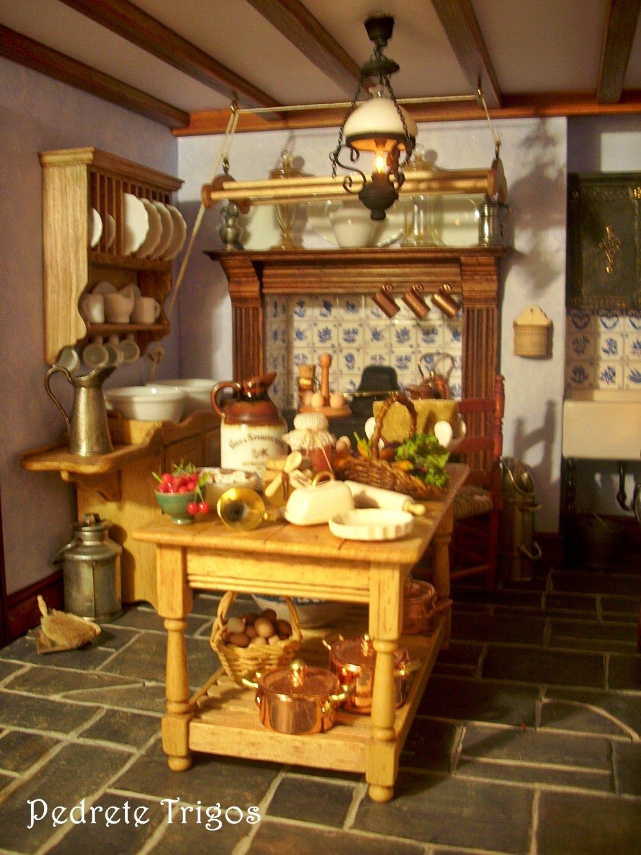 Gran Salón Cocina Casa De Muñecas En Miniatura