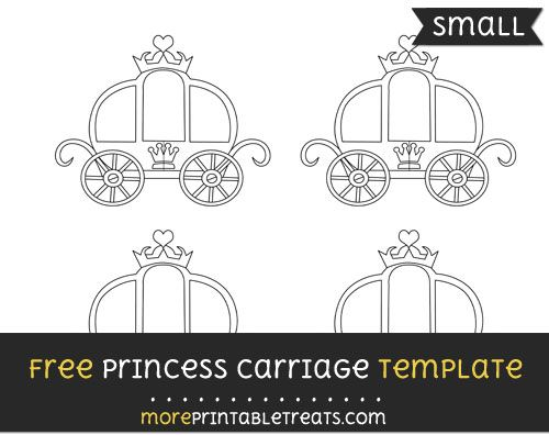 free princess carriage template