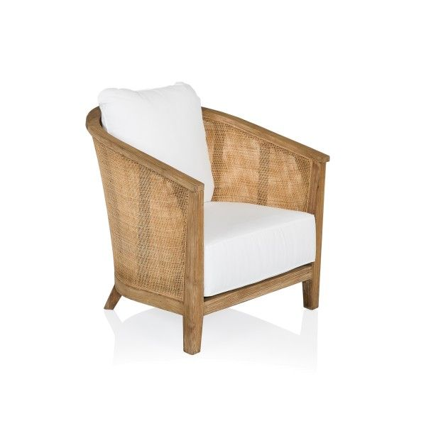 Ordinaire Classic Club Chair With Tropical Style Crafted From Solid Teak And Woven  Rattan.