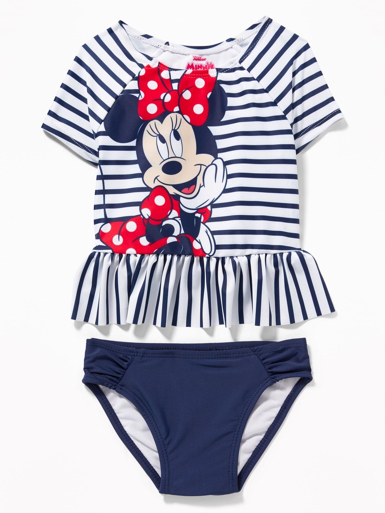 ff7ec2908634 Disney© Minnie Mouse Rashguard Swim Set for Toddler Girls
