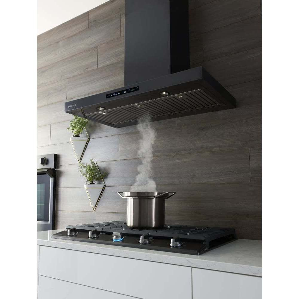 Samsung  Wall Mount Hood Black Stainless Silver