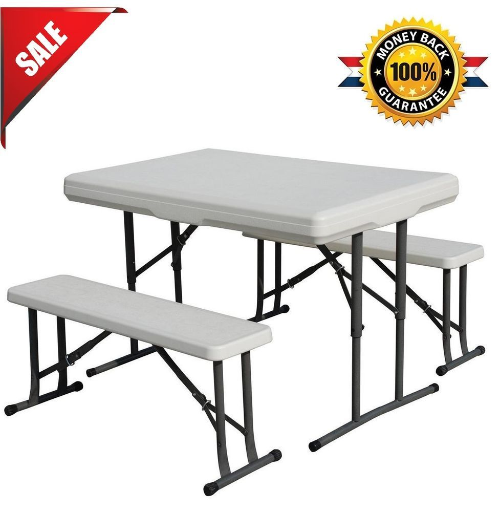 Folding Picnic Table Bench Set Seat Portable Camping Outdoor Patio ...