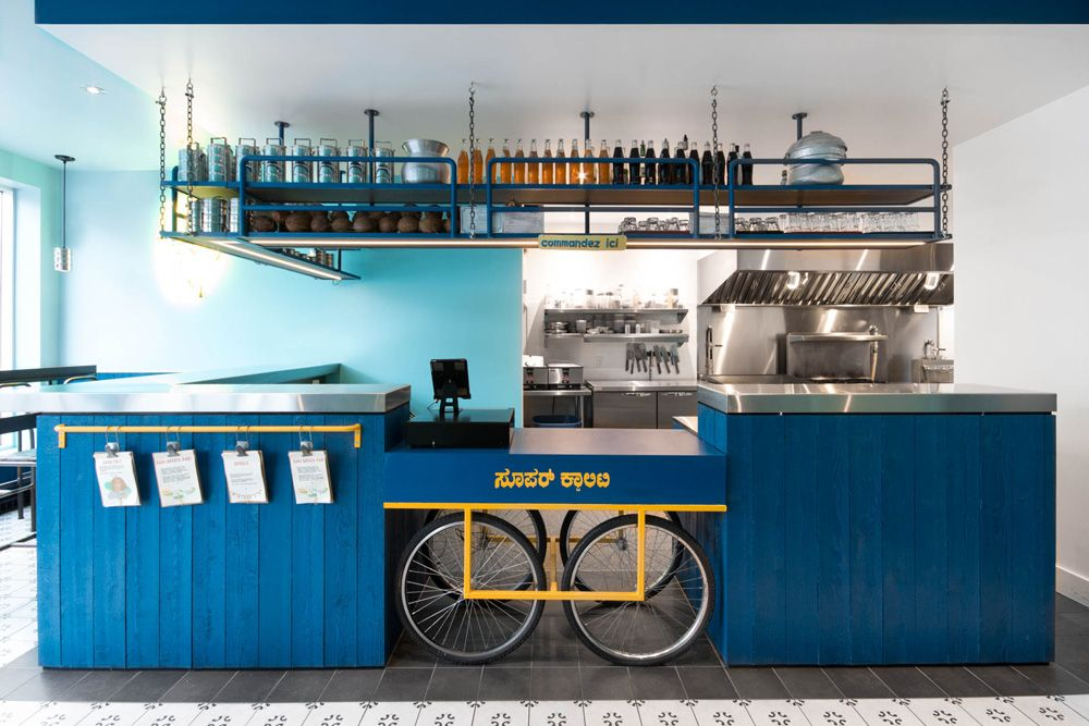 Small And Vibrant Restaurant Interior In Montreal The Architects Diary Restaurant Interior Cafe Bar Design Cafe Interior Design