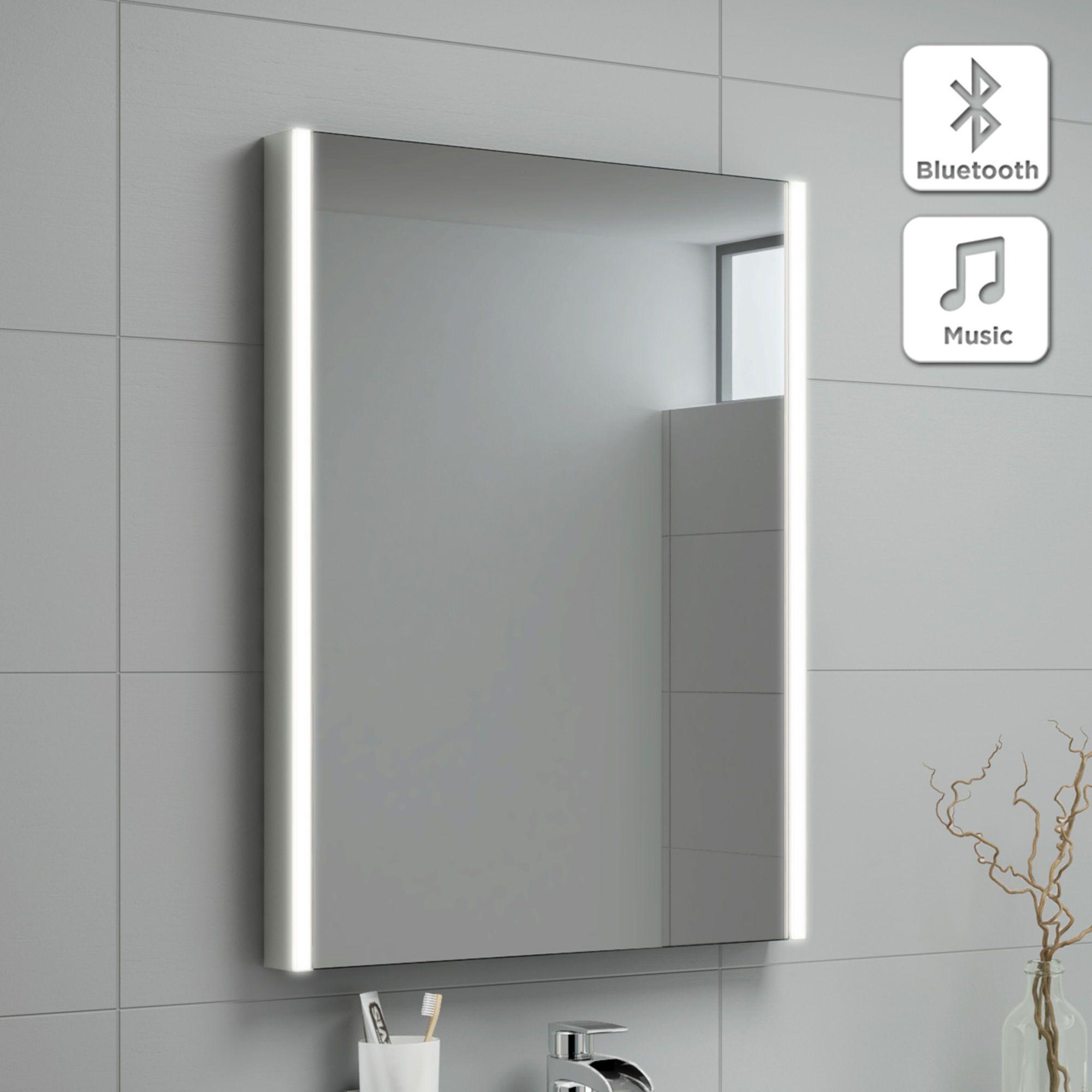 500x700mm Lunar Illuminated Led Mirror Bluetooth Speaker Amazing Bathrooms Led Mirror Bathroom Bathroom Mirror Design