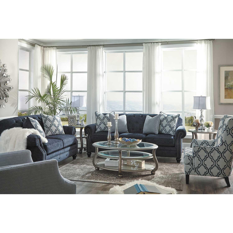 Lavernia Slate Tufted Sofa Nn 713s Ashley Furniture Afw Furniture Ashley Furniture Cheap Living Room Sets