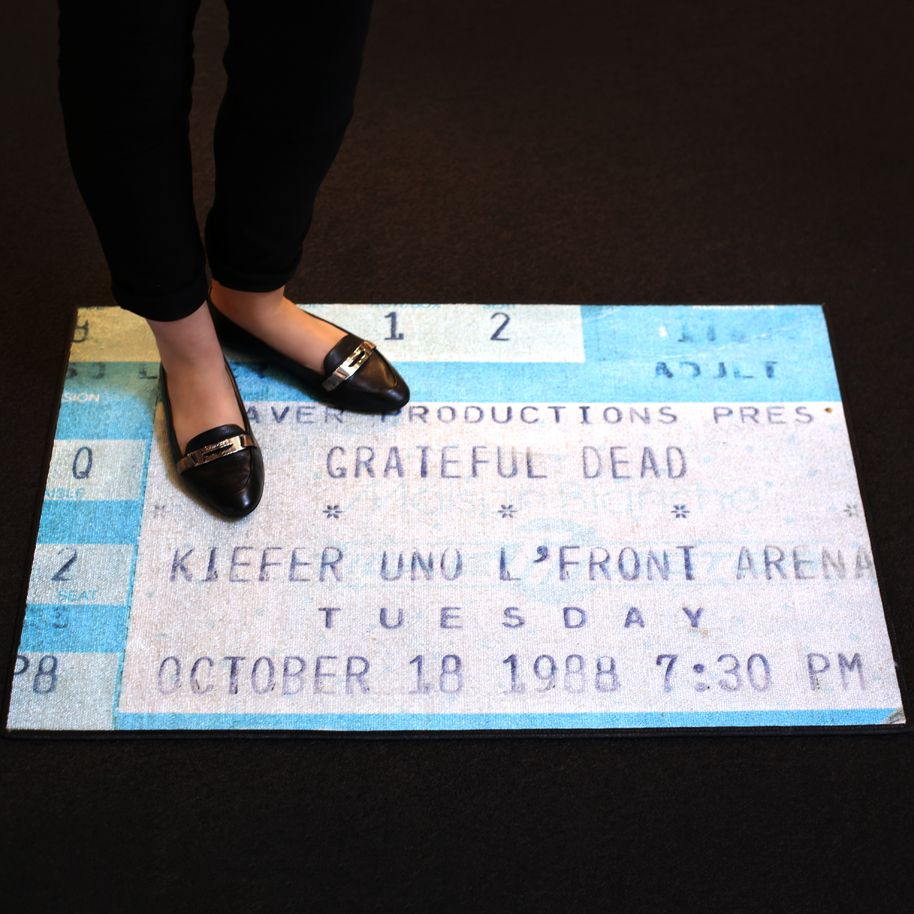 Concert Ticket Turned Into A Doormat Concert Ticket Display