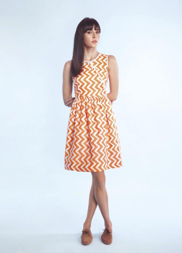 Kleid in Wickleoptik - kostenloses Schnittmuster | Gratis ...