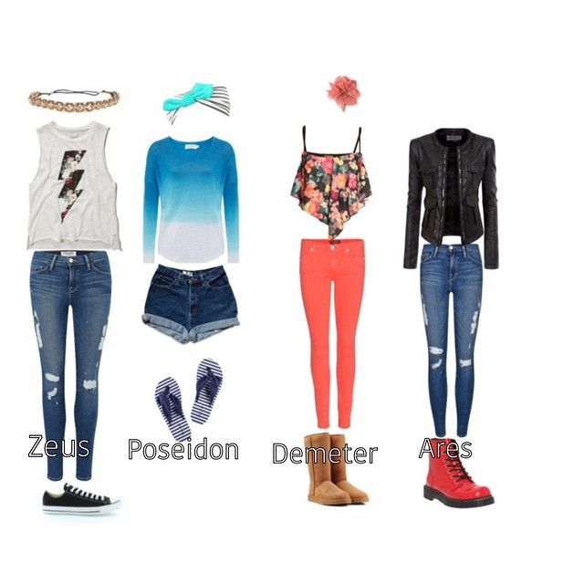 Daughter of Zeus, Poseidon, Demeter, and Ares outfits. Ooh ... Percy Jackson Poseidon Costume