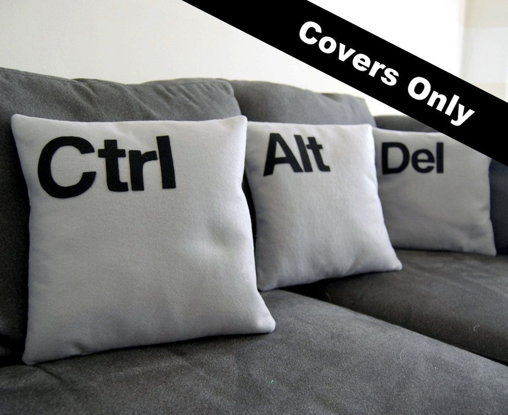 Ctrl alt del three pillow set covers only as seen on cbs