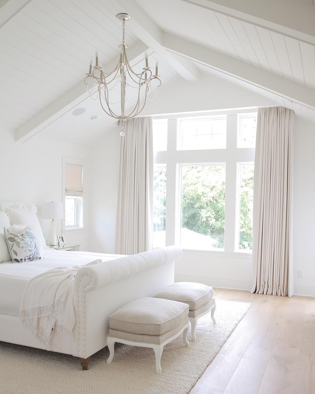 Simply white and neutral decor. Sharing my home and