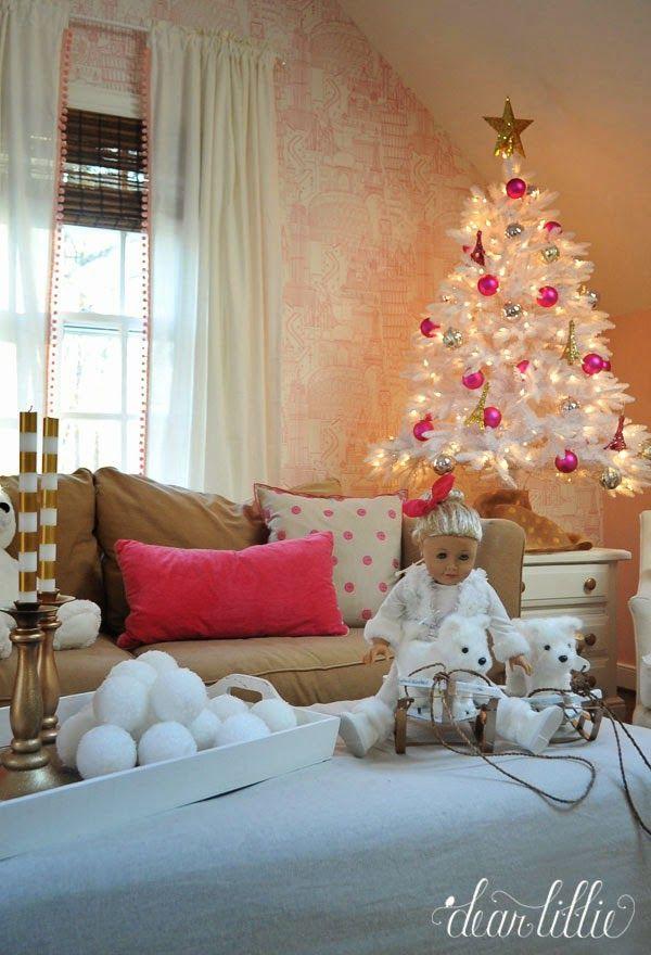 Dear Lillie A Very Pink Christmas Playroom Pink Christmas Dear Lillie Glamorous Christmas A very pink christmas playroom