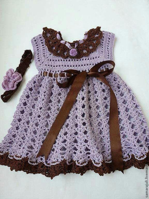 Pin de Erika Ivana en tejidos   Pinterest   Ropita de bebe, Vestidos ...