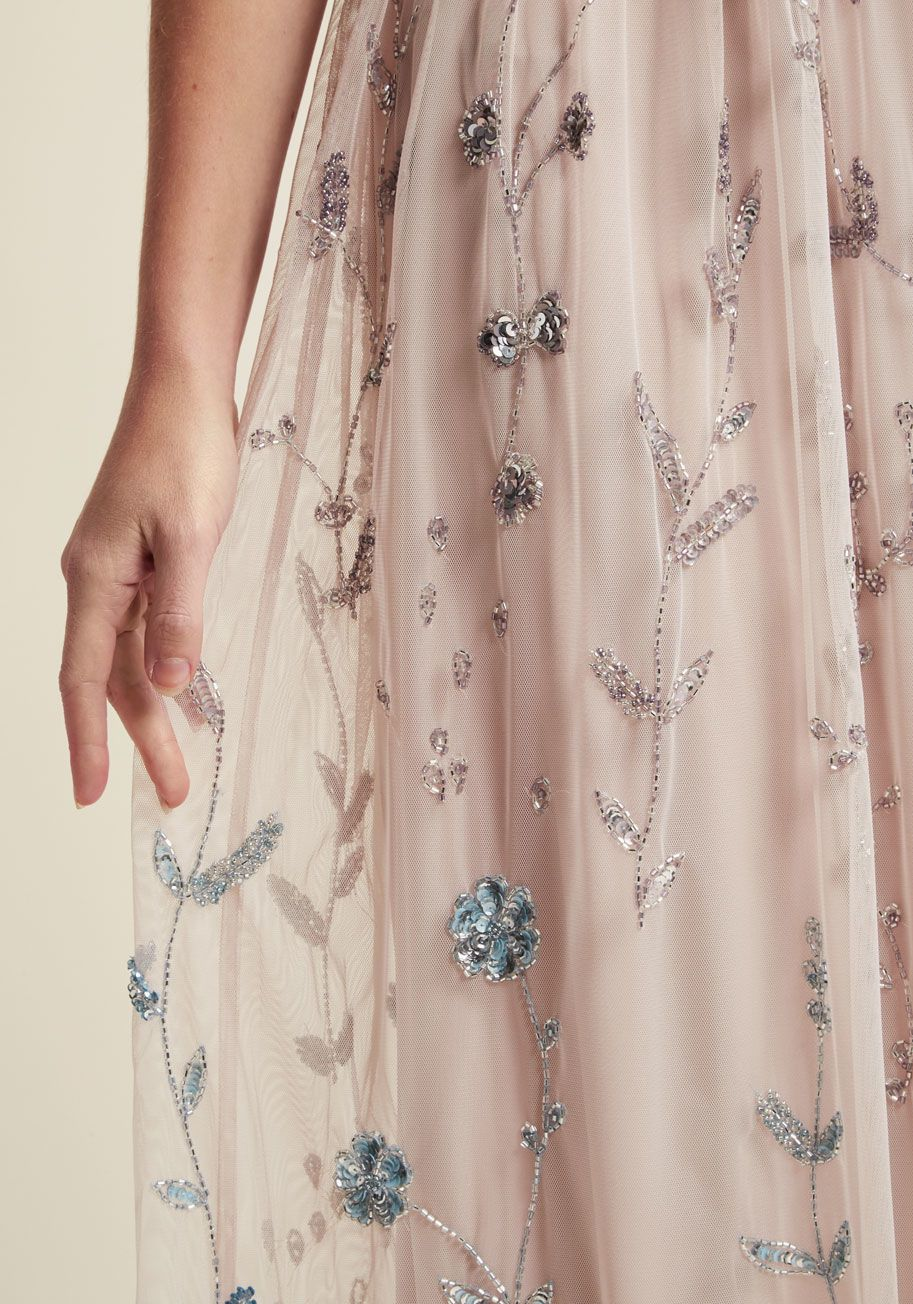 c4d4664d62 Adrianna Papell Love of Luxe Maxi Dress in Blush in 2019