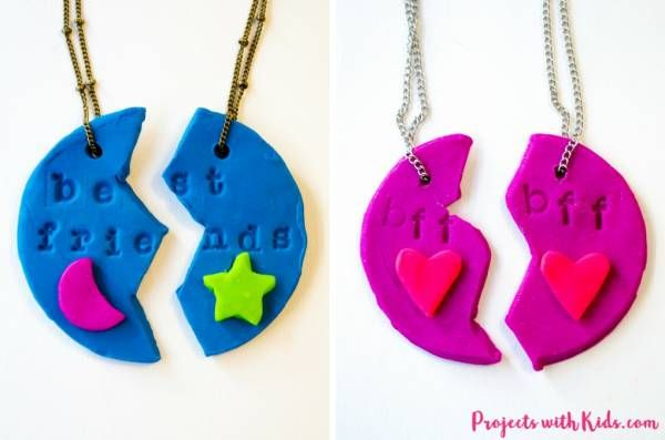 Photo of Kids Craft – Polymer Clay Best Friend Necklaces