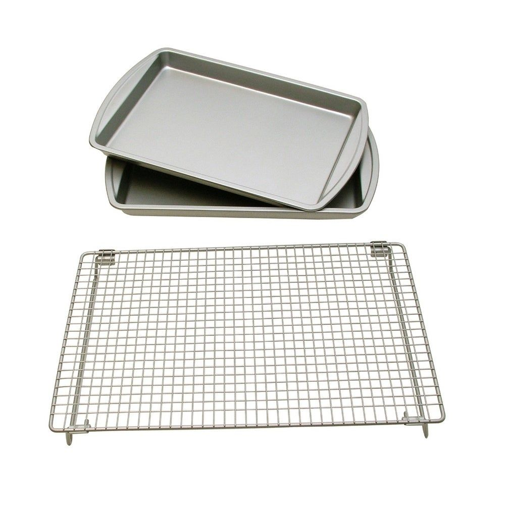 Le Chef Basic Baking Sheets And Cooling Rack Set Cookie Baking