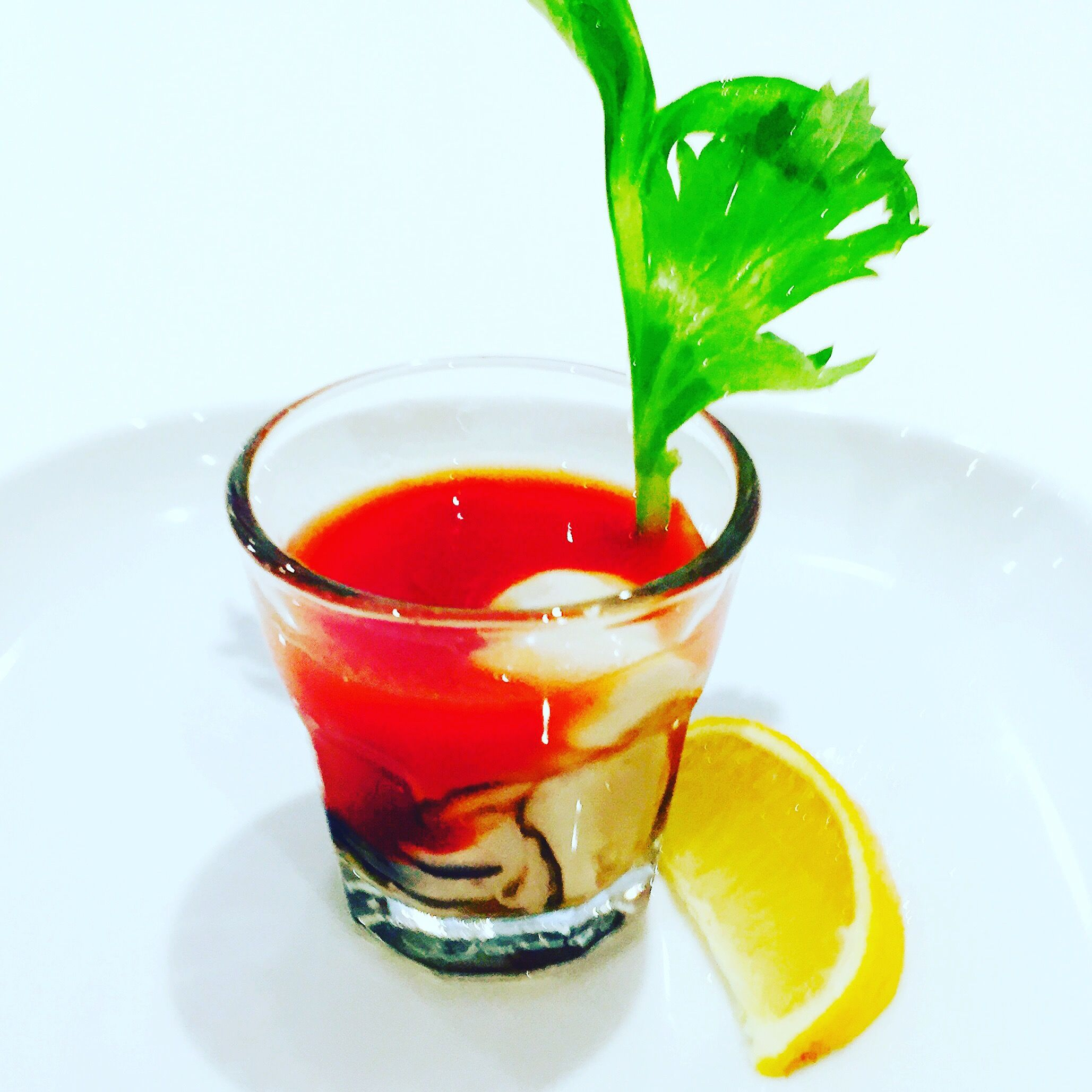 Blood Mary Oyster Shot