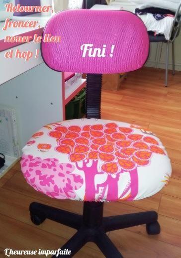 Une Nouvelle Housse Pour Chaise De Bureau Diy Housse De Chaise Chaise Bureau Tuto Couture Housse De Chaise