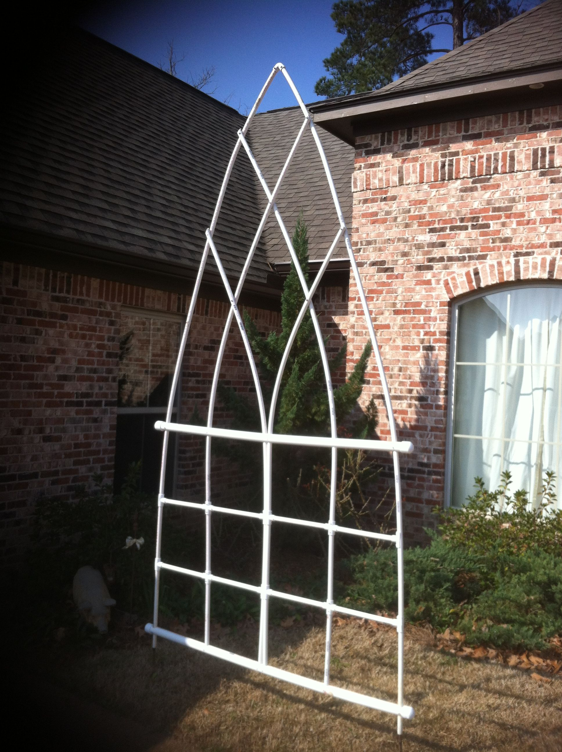 Weekend Project Pvc Trellis Ready For Copper Paint