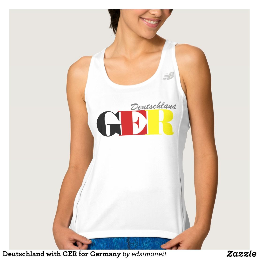 Deutschland with GER for Germany Workout Tank Top
