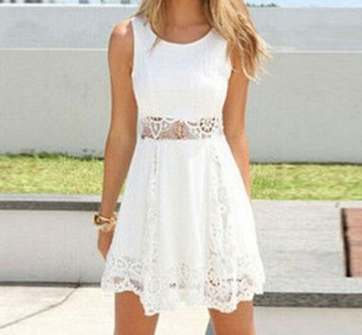 ROUND NECK SLEEVELESS LACE DRESS from Fashion designer #confirmationdresses