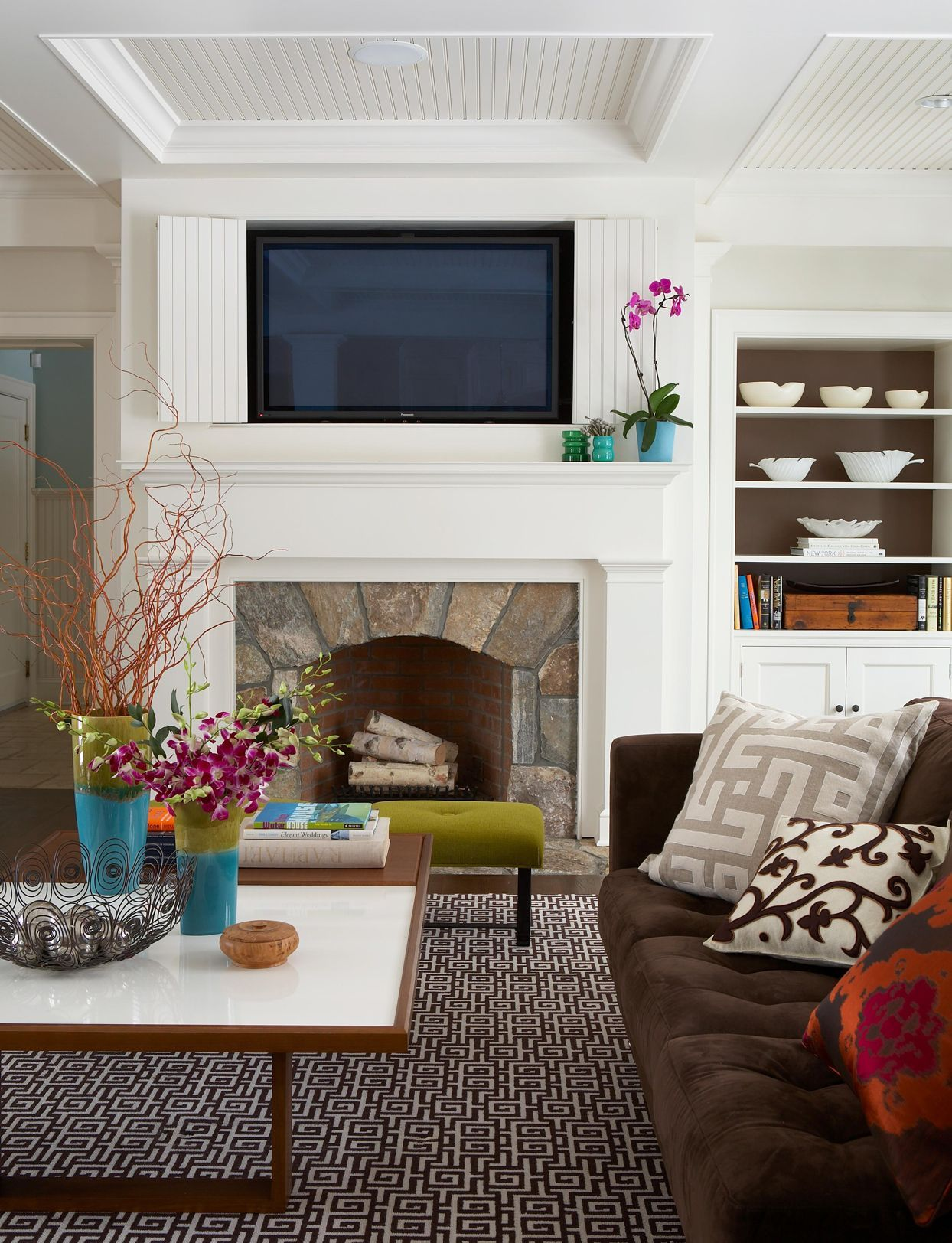 Make Your Fireplace A Focal Point With These 26 Mantel Decor Ideas Living Room Tv Wall Build A Fireplace Transitional Living Rooms