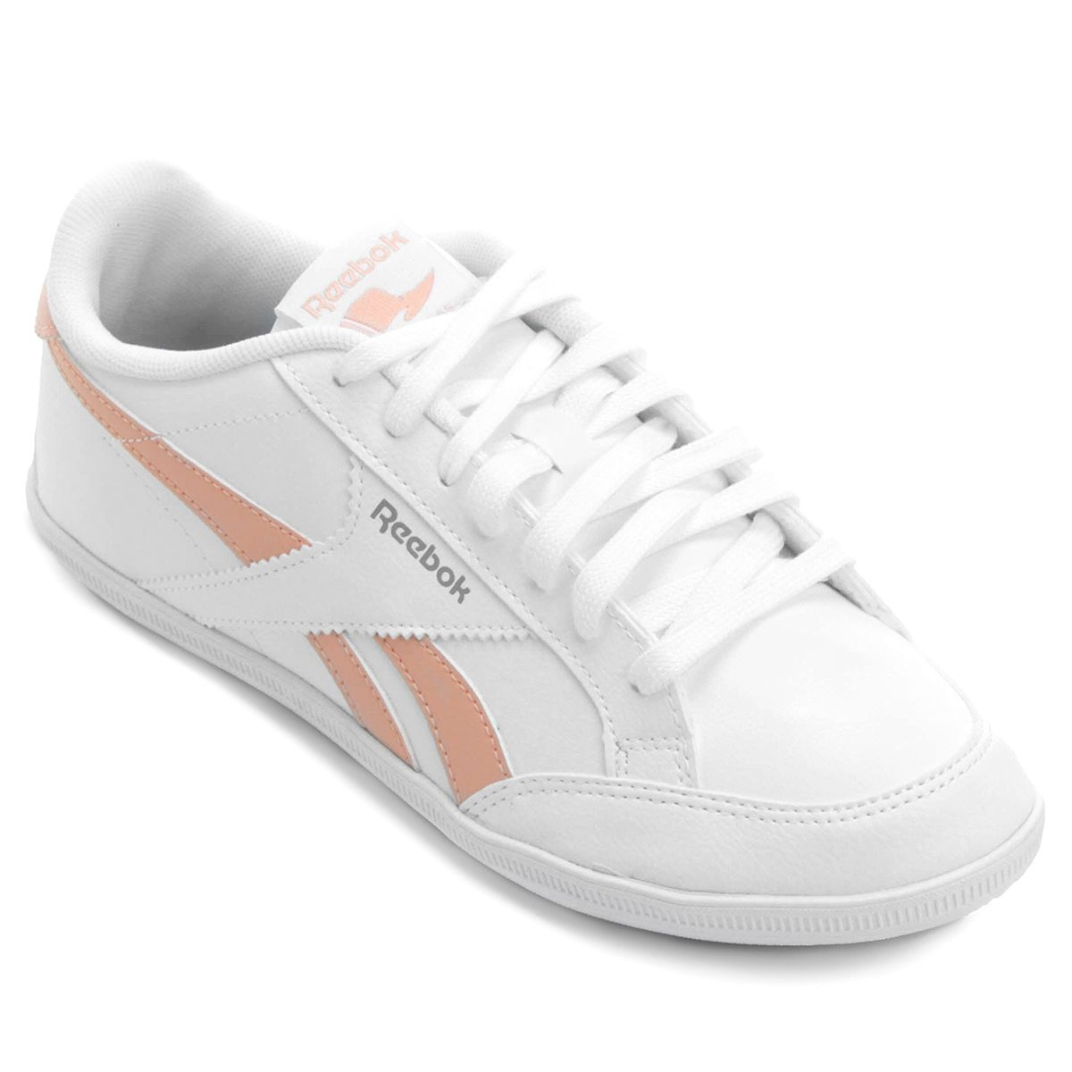03200879078c7 Tênis Reebok Royal Transport S - branco/salmão | jogging odde ...