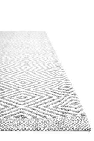 Wool Grey Diamond Geo Rug From The Next Uk Online
