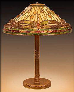 Tiffany Gold Dragonfly Table Lamp