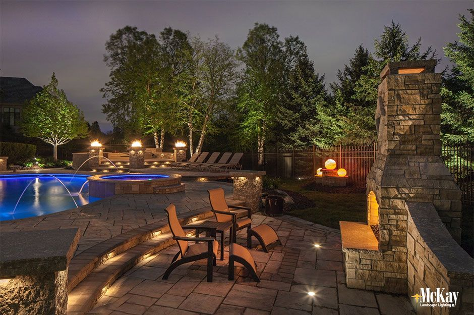 Friday Favorites Outdoor Fireplace Lighting Outdoor Lighting Design Outdoor Lighting Landscape Lighting