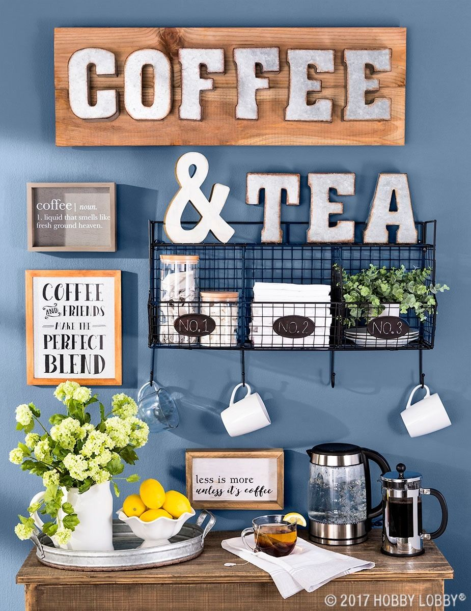 Our Kitchen Tea Station and Tiered Trays for Kitchen Storage | Tea ...