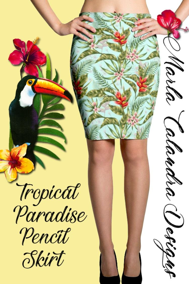 BOLD TROPICAL-NESS! women s skirts 59e6510cf
