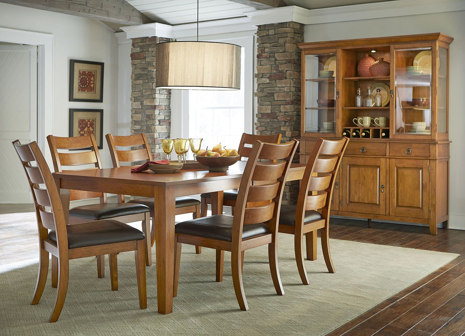 Coopers Lake Table With 4 Side Chairs Side Chairs Dining Room
