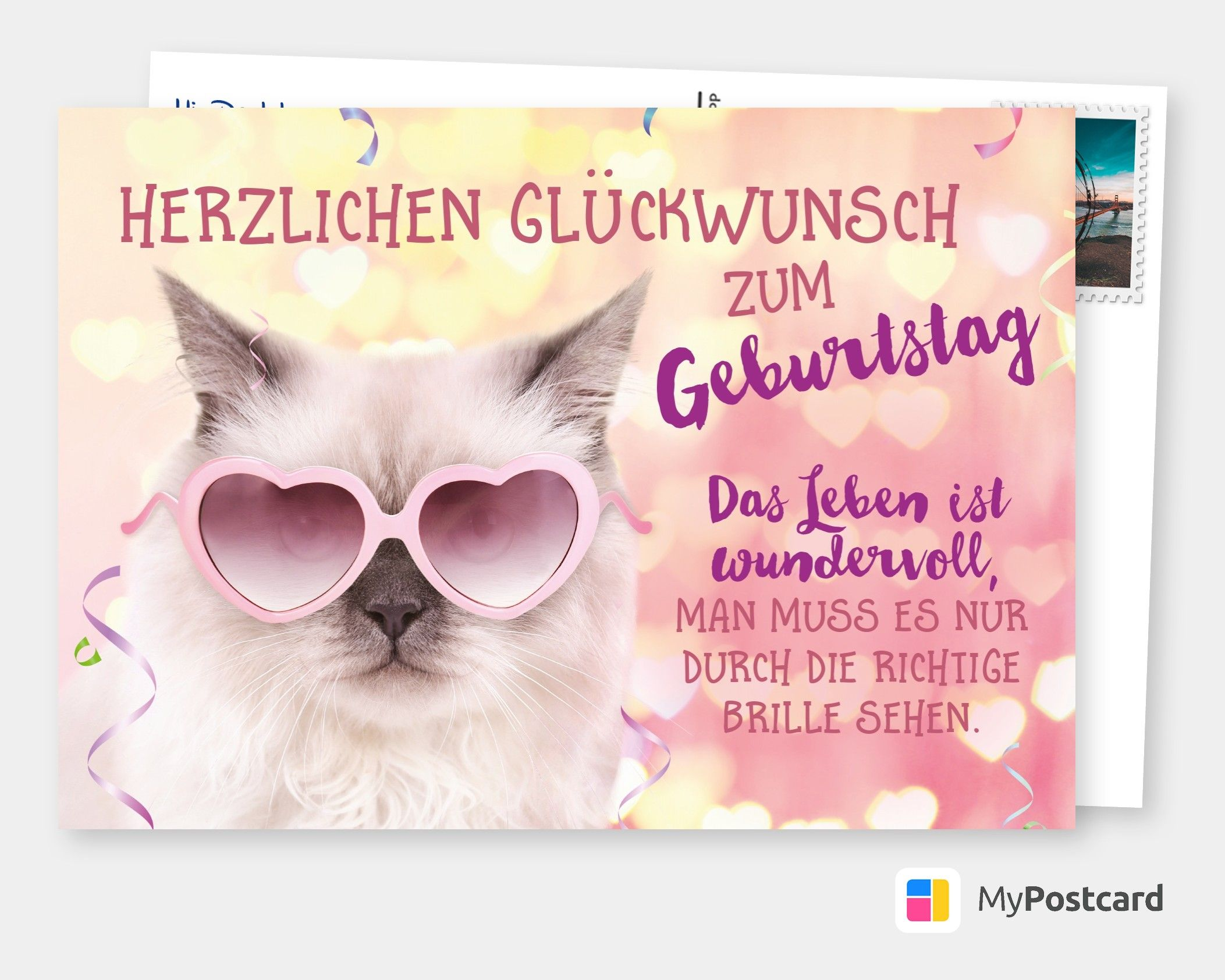 Rosarote Brille Birthday Postcards Birthday Greeting Cards