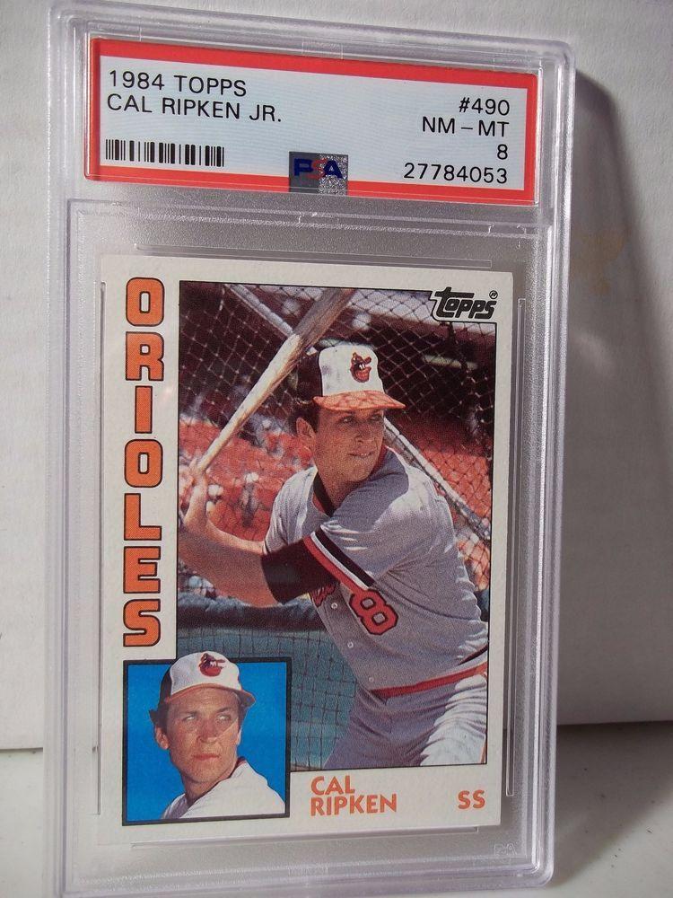 1984 topps cal ripken jr psa nmmt 8 baseball card 490