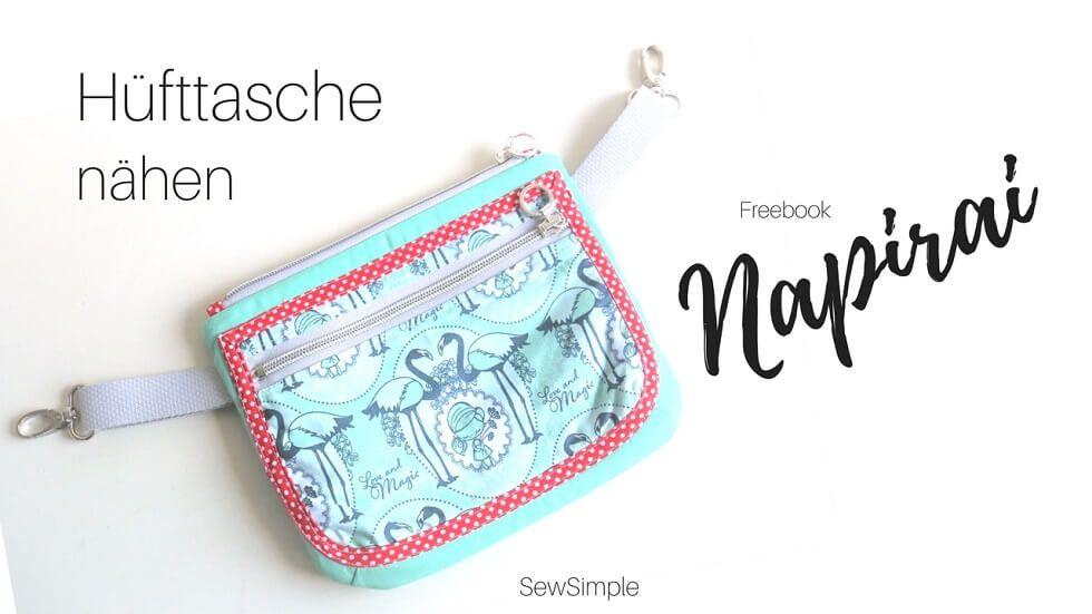 Freebie: Hüfttasche nähen   Hüfttasche, Gratis schnittmuster und ...