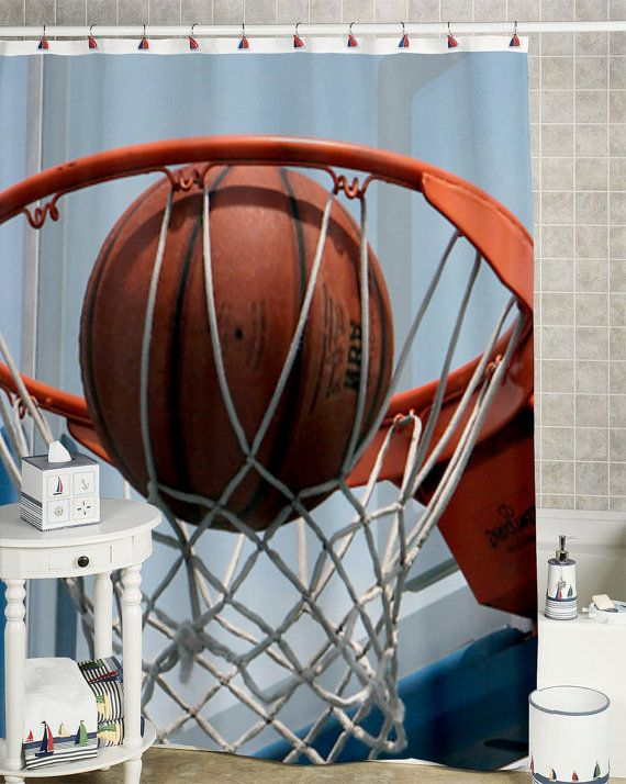 Basketball Shower Curtain Custom Showercurtain By 51151curtain