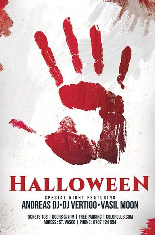 Free Halloween Flyer Template - http://freepsdflyer.com/free ...