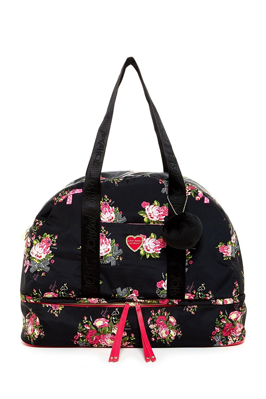 Betsey johnson signature quilt weekender bag